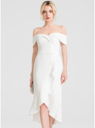 Off-the-shoulder Mouwloos Asymmetrische ()