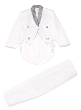 Boys Elegant Ring Bearer Suits With Jacket Pants