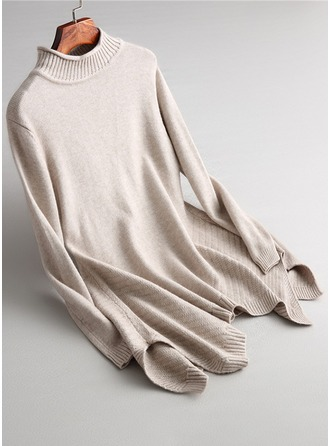 Plain Knit Cardigan Sweaters