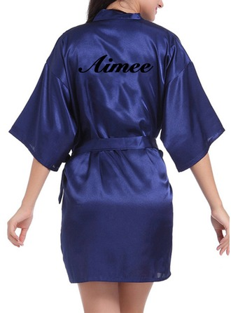 Personalized Charmeuse Bride Bridesmaid Mom Embroidered Robes