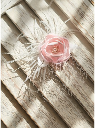 Satin With Imitation Pearls Hairpins