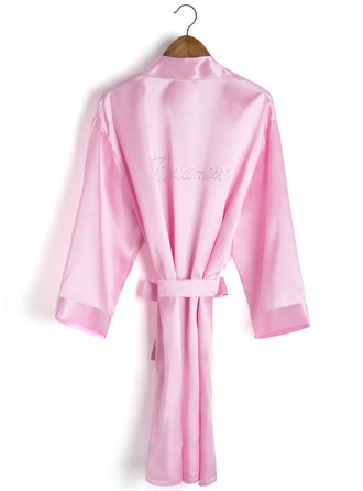 Personalized Charmeuse Rhinestone Robes