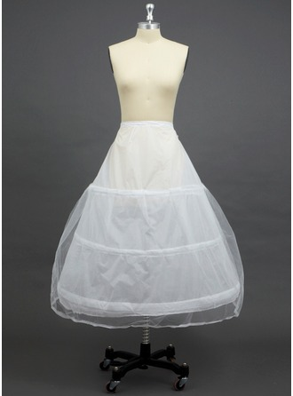Women Tulle Netting/Polyester Floor-length 2 Tiers Petticoats