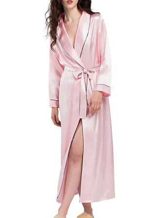 Bride Bridesmaid charmeuse With Ankle-Length Kimono Robes