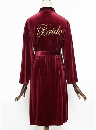 Non-personalized Polyester Bride Embroidered Robes
