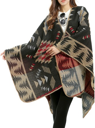 Plaid Oversized/Sjalar Poncho