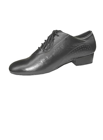 Men's Real Leather Flats Ballroom Practice Dance Shoes