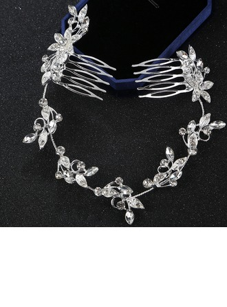 Ladies Elegant Alloy Combs & Barrettes With Rhinestone (Sold in single piece)