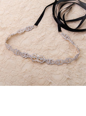 Elegant Alloy Sash With Rhinestones