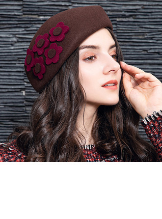 Ladies' Elegant Wool With Flower Beret Hats