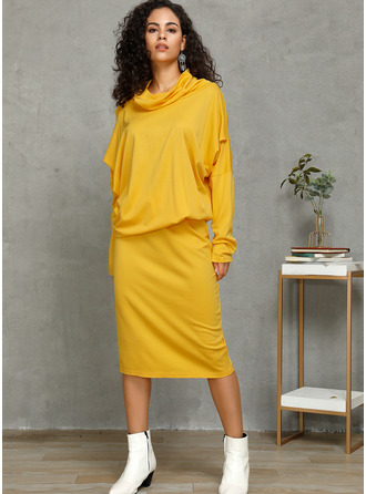 Polyester/Cotton Knee Length Dress