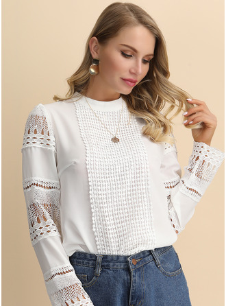Long Sleeves Cotton Stand collar Shirt Blouses Blouses