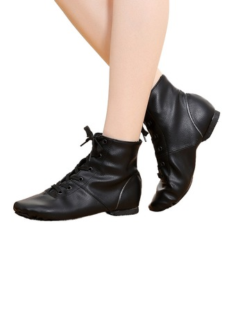 Unisex Leatherette Flats Ballet Jazz Dance Boots Dance Shoes