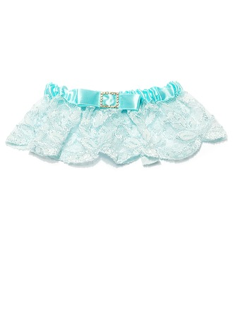 Beautiful Satin Lace With Rhinestone Wedding Garter Skirt