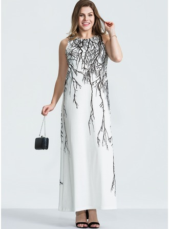 Polyester/Spandex With Print Maxi Dress