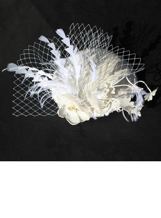 Ladies' Glamourous Cotton With Feather/Flower Fascinators