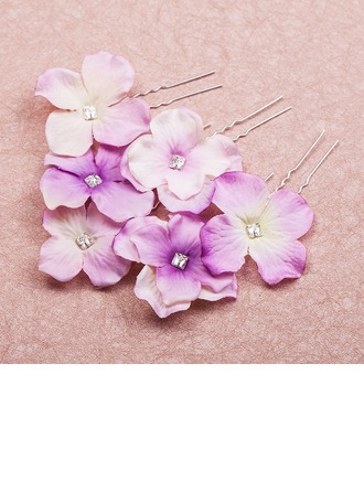 Beautiful Crystal/Alloy/Fabric Hairpins/Flowers & Feathers(Set of 6)