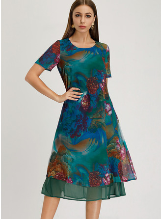 Chiffon Midi Dress