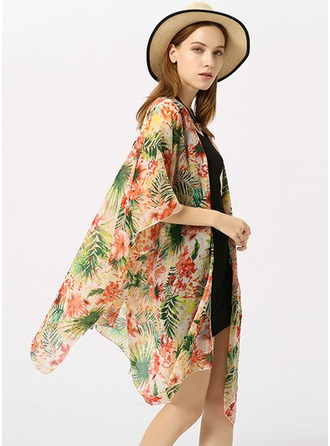Floral Light Weight/fashion/simple Polyester Beach Poncho