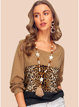 Long Sleeves Polyester One Shoulder Knit Blouses