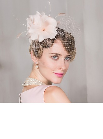 Dames Charmant Fil net Chapeaux de type fascinator