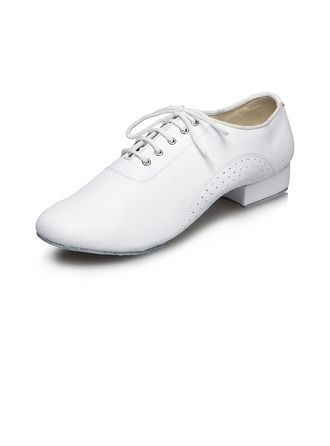 Men's Leatherette Flats Latin Ballroom Practice Character Shoes Dance Shoes