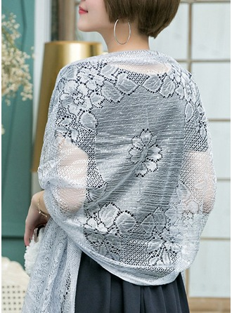 Solid Color Shawls Polyester Poncho