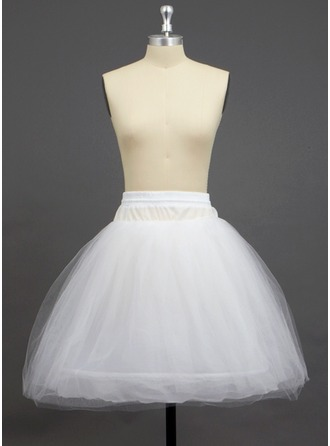 Women Tulle Netting/Polyester Knee-length 3 Tiers Petticoats