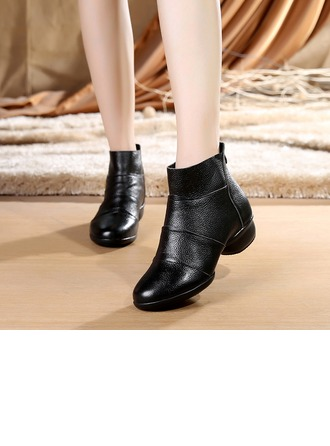 Women's Real Leather Boots Modern Dance Shoes