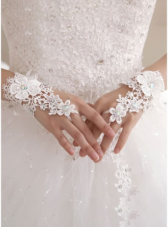 Fabric Wrist Length Bridal Gloves
