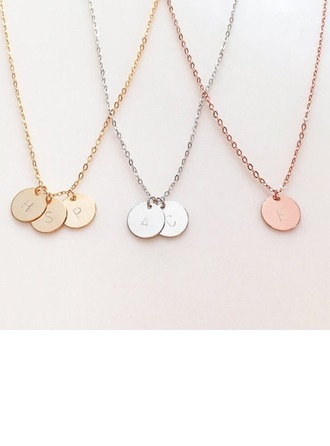 Bridesmaid Gifts - Personalized Alloy Necklace