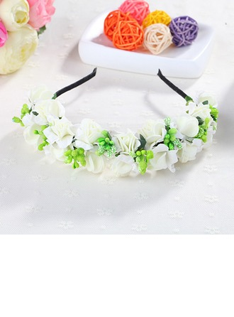 Artificial Silk With Flower Headbands