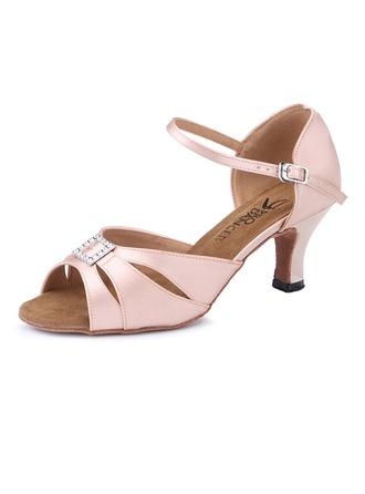 Femmes Satiné Talons Latin Chaussures de danse