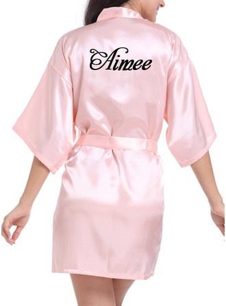 Personalized Charmeuse Bride Bridesmaid Embroidered Robes 746f7fcaa