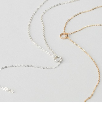 Personalized Ladies' Chic 925 Sterling Silver Engraved/Initial/Bar Necklaces For Bridesmaid/For Friends/For Couple