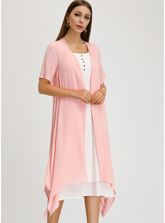 Linen Midi Dress (Two Pieces)