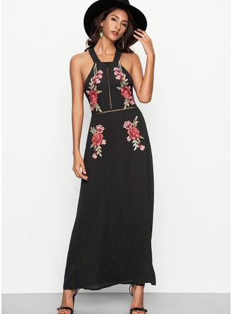 Cotton With Embroidery Maxi Dress
