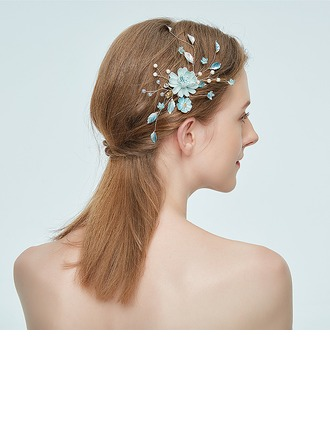Ladies Eye-catching Alloy Hairpins With Rhinestone/Venetian Pearl (Sold in single piece)