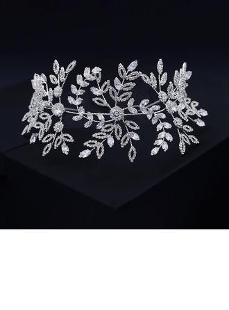 Damer Nydelig Rhinestone/Zirkon Pannebånd med Rhinestone (Selges i ett stykke)