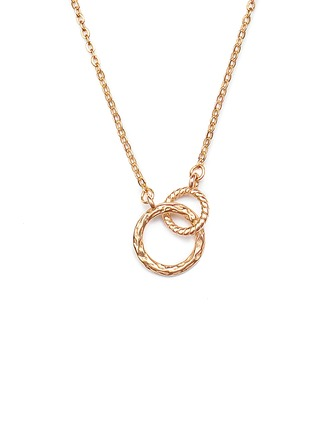 18k Gold Plated Silver Circle Pendant Necklace