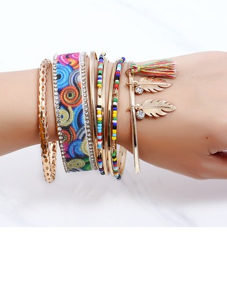 Unique Alliage Strass avec Strass Dames Bracelets de mode (Lot de 8)