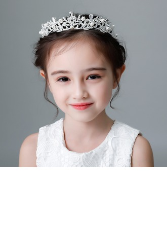 Kids Beautiful Rhinestone/Alloy/Imitation Pearls Tiaras With Rhinestone/Venetian Pearl (Sold in single piece)