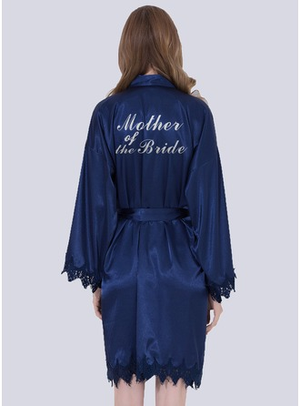 Lace Mom Glitter Print Robes