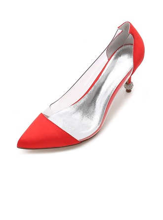 Women's Silk Like Satin Stiletto Heel Pumps Sandals With Others