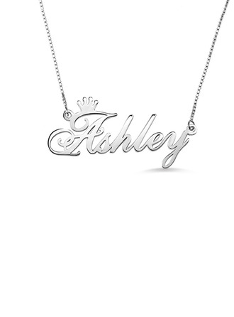 Personalized Couples' Hottest 925 Sterling Silver Name Necklaces For Bride/For Bridesmaid/For Mother/For Friends/For Couple