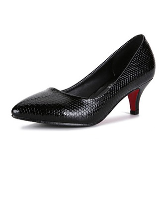 Similicuir Talon stiletto Escarpins Bout fermé avec La copie Animale chaussures