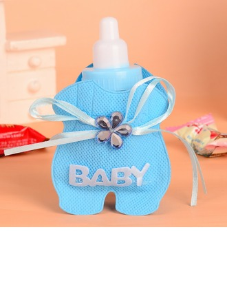 """Baby"" Bottle shaped Favor Bags With Rhinestone"