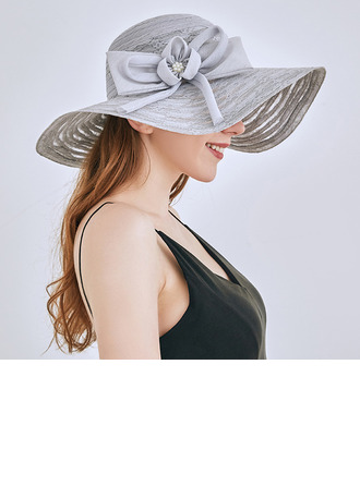 Ladies' Classic/Elegant Lace With Bowknot Beach/Sun Hats