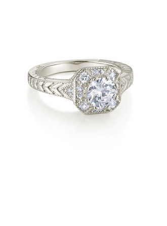 Sterling Silver Cubic Zirconia Exquisite Round Cut Engagement Rings Promise Rings -