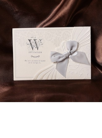 Blumen-Stil Wrap & Pocket Invitation Cards mit Bögen